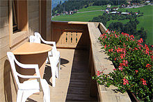 balcony with folding table