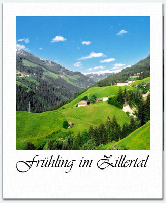 The Zillertal in spring time
