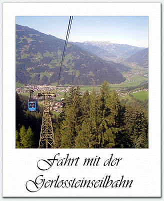 a ride on the Gerlosstein cable car