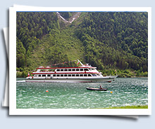 steam boat ride on the Achensee