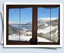 view from the apartment into the Zillertal winter wonderland